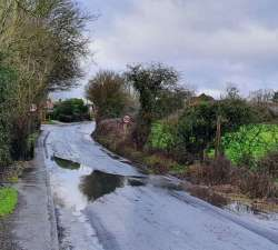 Blocked Road Drainage Gulley, 28th January